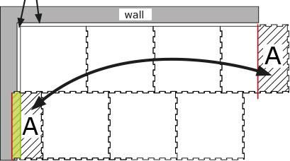 BELMONDO rubber horse mat installation overview