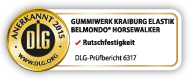 DLG test seal: BELMONDO Horsewalker is tested by the DLG for slip resistance
